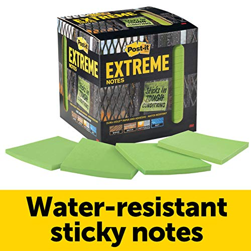 - Post-it Extreme Notes, Green, Stop the Re-Work, Great for Instructions, 3 in x 3 in, 12 Pads/Pack, 45 Sheets/Pad (EXTRM33-12TRYG)