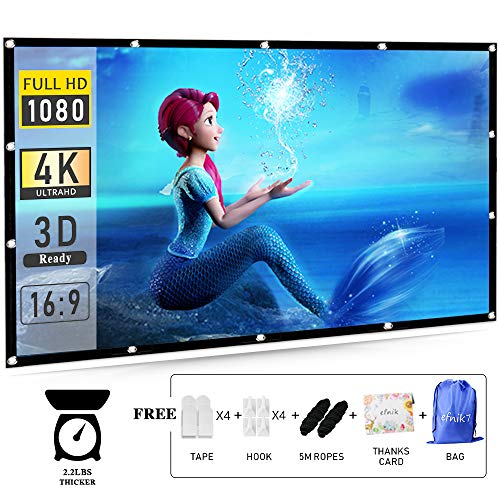 Outdoor Projector Screen,120 inch Portable Projection Screen 16:9 HD Outdoor Movie Screen Foldable Anti-Crease for Home Cinema Theater and Support Rear Projection Material Thicker by efnik 7 Brand
