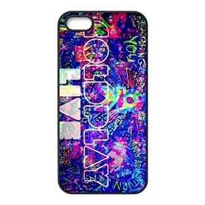 Custom Coldplay Fashion Snap On Protector Hard Case Cover For iPhone 5 5s TPU