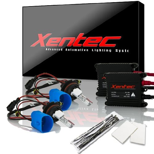 XENTEC 9007(HB5) Hi/Lo 10000K AC Advanced Slim Ballast HID Xenon Kit w/ Hi-beam Halogen (Brillant Blue)