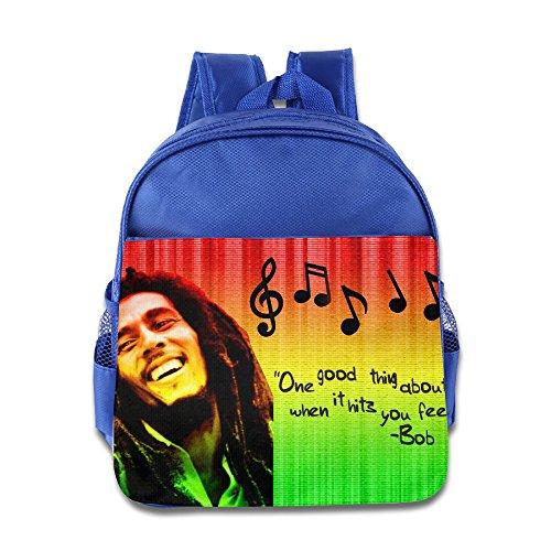 - XJBD Custom Superb Reggae Kids Children School Backpack For 1-6 Years Old RoyalBlue