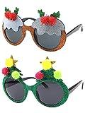 CGID Weihnachtsdeko Weihnachten Brille Spaßbrille Partybrille Weihnachtsmann Rentier Weihnachtsbaum und Hut
