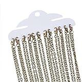 Souarts Antique Bronze Color Cable Link Chain Necklace Pack of 12pcs