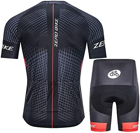 Details about  /Men Cycling Jersey Bike Clothing Half Sleeve Cycling Shorts Set ZEROBIKE