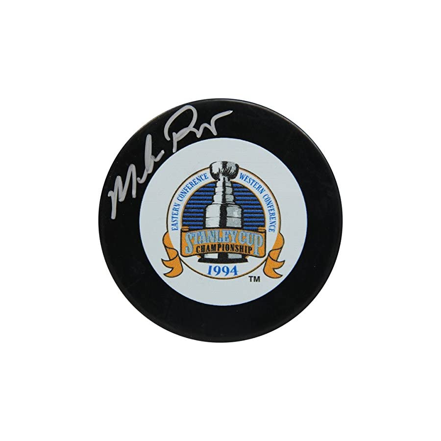 Mike Richter Signed 1994 Stanley Cup Championship Puck (Signed in Silver)