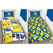 POKEMON PIKACHU SINGLE DUVET COVER AND PILLOWCASE SET KIDS BEDDING OFFICIAL NEW by Pokemon pikachu