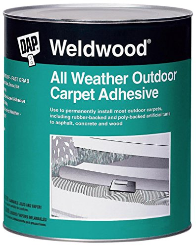 - Dap 00442 Weldwood All-Weather Outdoor Carpet Adhesive, 1-Quart