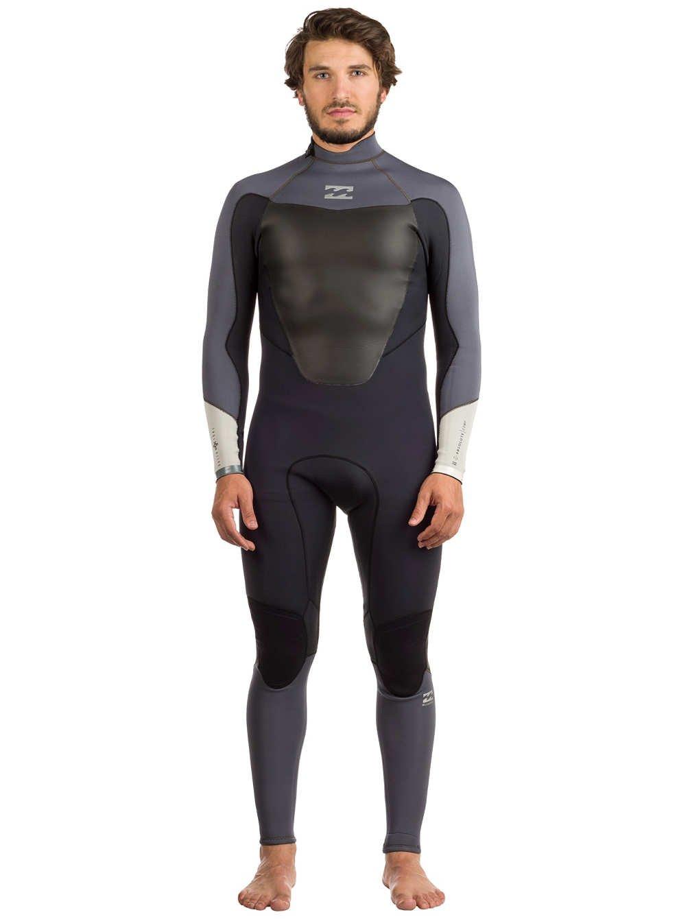 2017年Billabong絶対Comp 3 / 2 mm Back Zip Wetsuitアスファルトf43 m22  Medium Tall