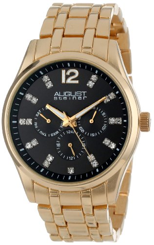 August Steiner Men's AS8068YG Crystal-Accented Watch