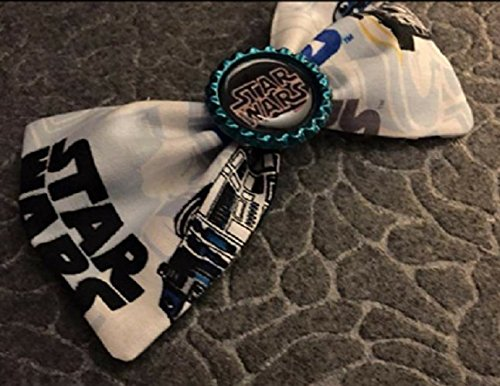 Disney Star Wars R2D2 fabric hair bow with bottle cap center, disneybound star wars bow, party favors, stocking stuffers hair -
