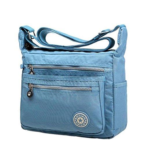 svago Blu femminile Chiaro tracolla Borse borse a impermeabili del delle a spalla LQQSTORE delle messaggero Borsa di ragazze donne nylon delle di RAq4n1WH