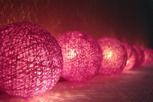 20 Balls Handmade Fairy String Lights,party,indoor/Alluring Purple Color