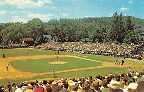 Cooperstown New York Doubleday Field Baseball Game Vintage Postcard K87930 (Vintage Baseball Postcards)