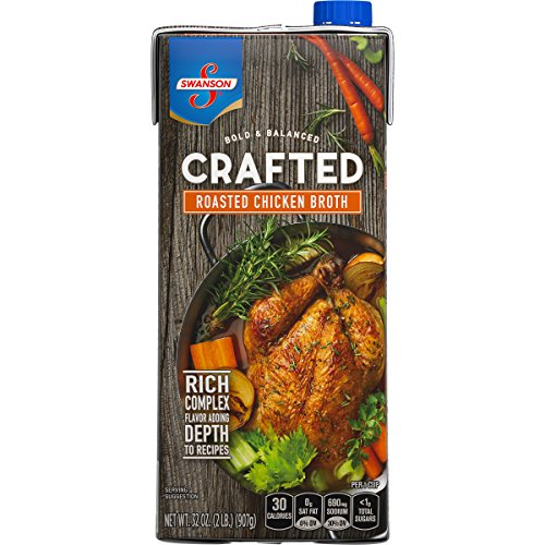 (Swanson Crafted Roasted Chicken Broth, 32 oz. Carton  (Pack of)