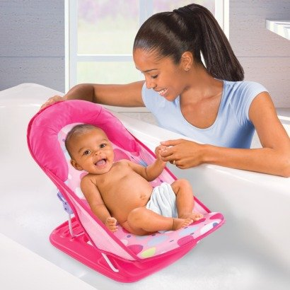 012914185353 - Summer Infant Deluxe Baby Girl Bather 3 Position Pink carousel main 2