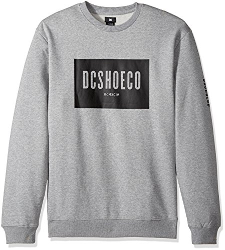 DC - Dc - Herren Squareside Fleece, Small, Grey Heather