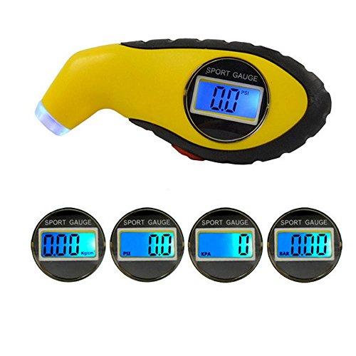 Digital Tire Pressure Gauge, 150 PSI Mini Potable Air Tire Pressure Gauge with LED Flashlight for Bike, Motorcycle, Car, Truck, SUV