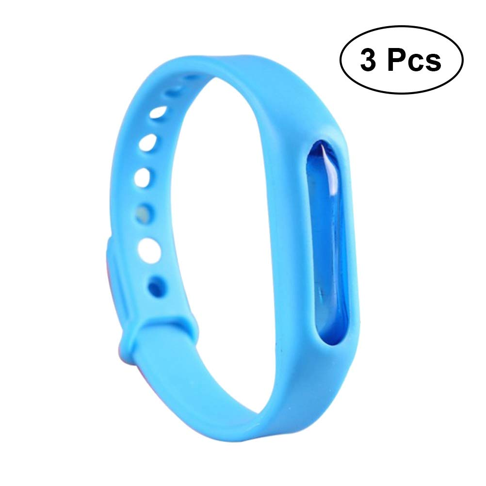 Vosarea 3-Teiliges Armband gegen Mücken, ungiftig, verstellbar, für Erwachsene, Kinder, Blau für Erwachsene