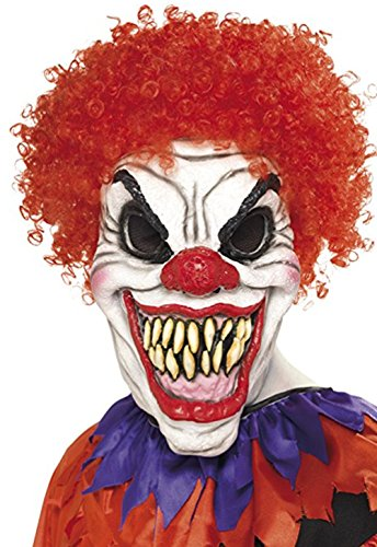 Costume Joker Crazy (GnG Toy joker Crazy Creepy scary Halloween Clown Mask - sinister smile, red)