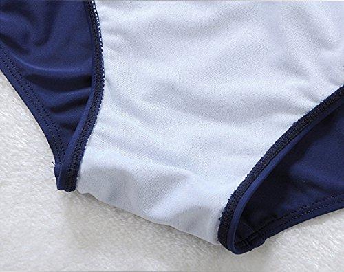 Niseng Mujer Tankini Bañadores Talla Grande Conjuntos De Falda Y Pantalones Cortos Blanco