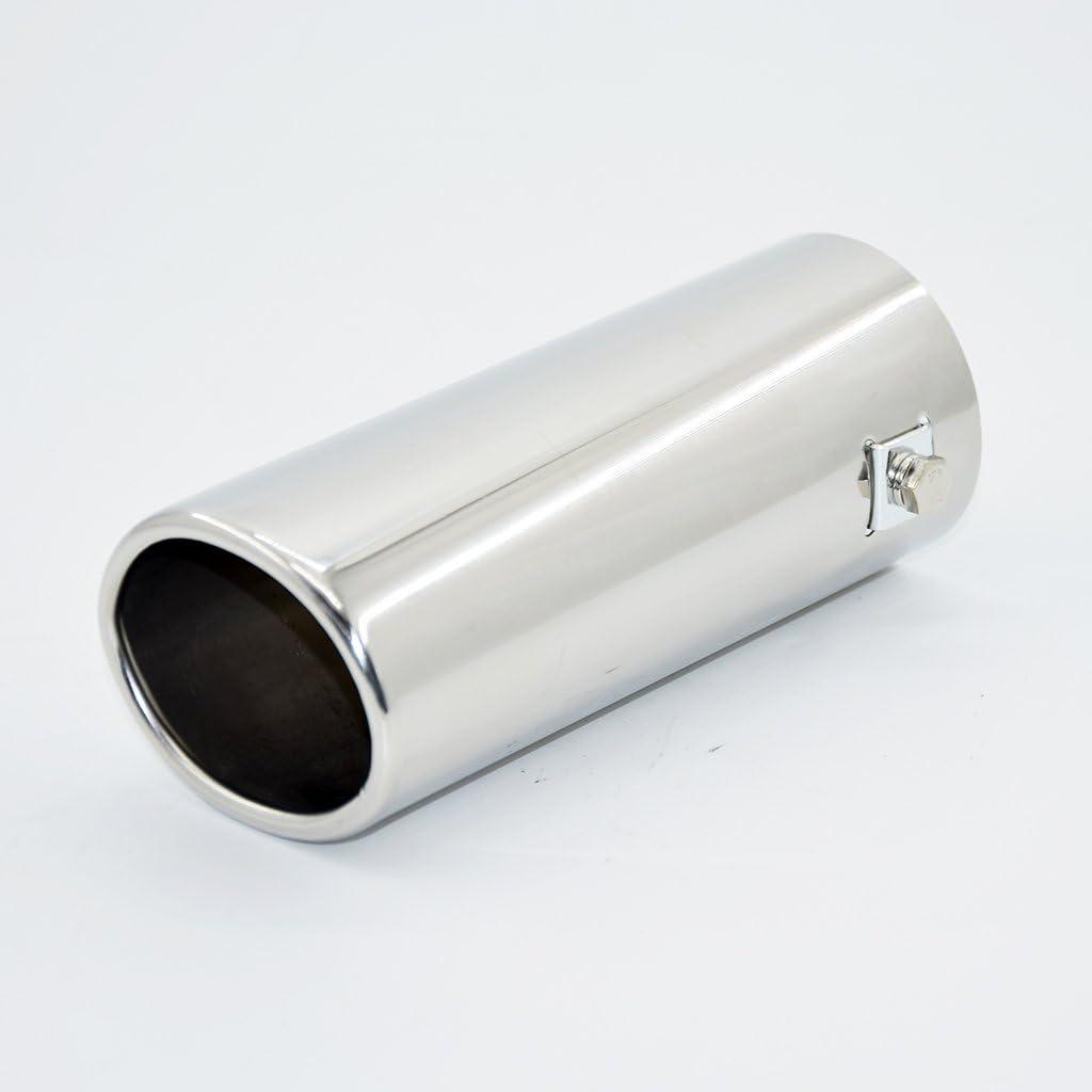 Dolity Escape Tubo Cola Silenciador Coche Punta 158mm Di/ámetro 63mm de Acero Inoxidable