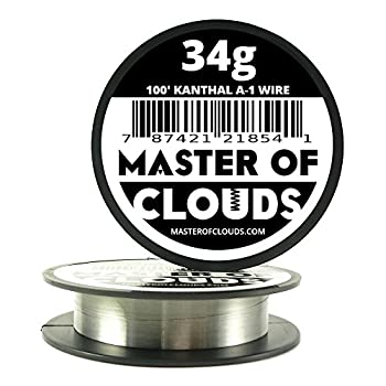 100 ft - 34 Gauge Kanthal A1 Resistance Wire AWG 100' Lengths