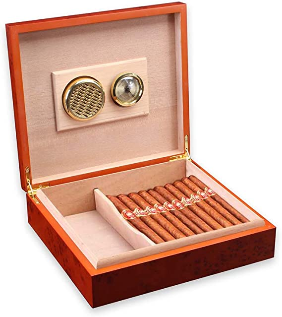 Color : Black Silber KPPTO Zigarettenetui Schwarz Humidor tragbare Zigarre Travel Box Zedernholz Zigarre Box Gold 10 St/ück Beautiful Life