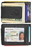 Hopsooken Money Clip RFID Front Pocket Wallet Men Leather Slim Minimalist Wallet (Small Napa Black)