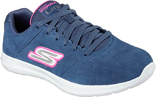 Skechers Go Walk CityChallenger Damen Sneakers Blau