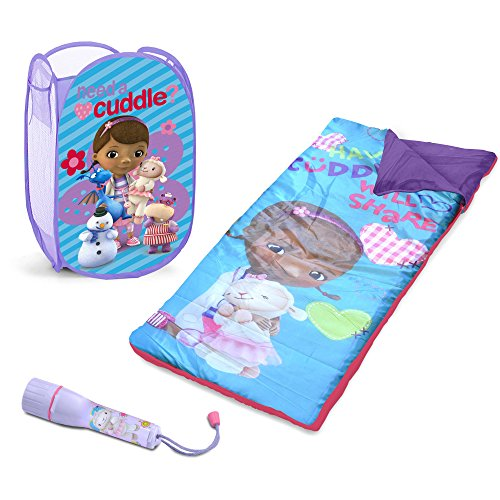 Disney Kids Doc McStuffins Toddler Girls Humper, Flashlight and Sleepover Set
