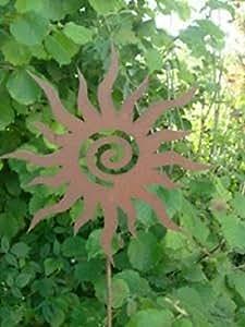 Crazy Sun - Accesorio oxidado, forma de sol, 28 cm x 1 m
