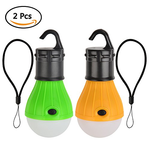 Camping Light [2 Pack] ATPWONZ Portable LED Tent Light 3 Modes Brightness Waterproof Hanging Lamp for Camping, Hiking, Mounting, Backpacking & Emergency
