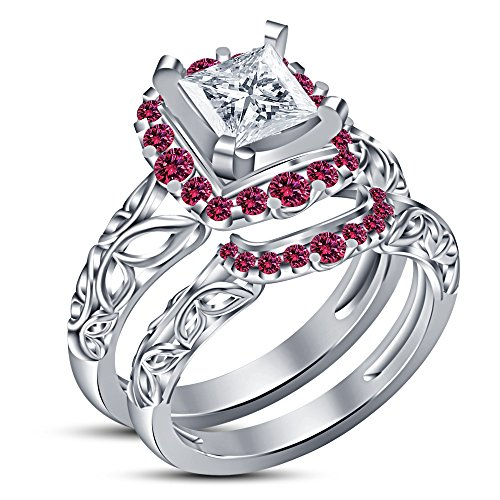 Vorra Fashion Anniversary Promise Wedding Band Engagement Ring Bridal Sets for women (8.5) from Vorra Fashion