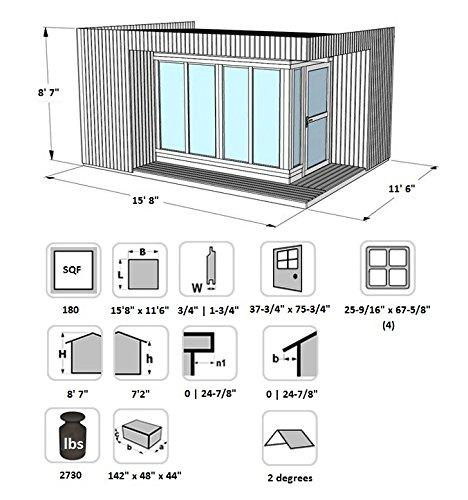 Amazoncom Allwood Garden House Kit Arlanda SALE ENDS 1224