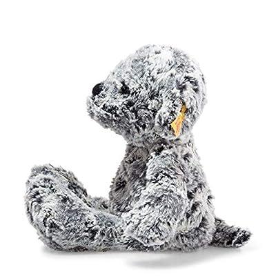 Steiff Soft Cuddly Friends - Taffy Dog, 12', Mottled Grey: Toys & Games