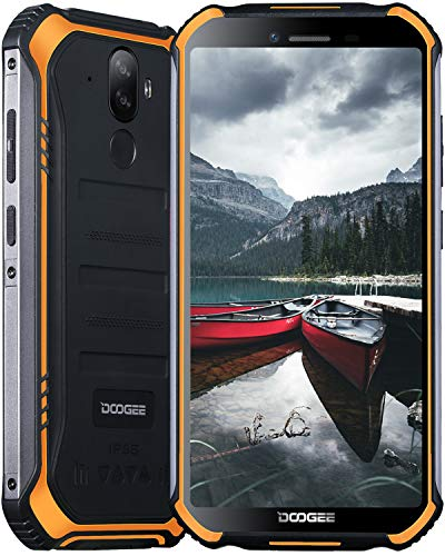 Móviles Libres, DOOGEE S40 Pro Móvil Resistente, 4GB + 64GB(SD 256GB), Cámara 13MP+2MP, Cámara Frontal 5MP, 4650mAh Movil Antigolpes, Android 10 Smartphone 4G de 5.45″ HD+ Pantalla, NFC, Naranja