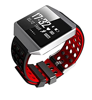 CK12 Smart Band Graphene ECG Heart Rate Monitor Blood Pressure Monitoring Smart Bracelet Sports Bluetooth Waterproof Watch(red)