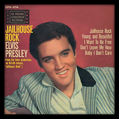Elvis Presley Jailhouse Rock Framed Classic Album Sleeve Memorabilia, Multi-Colour,12-Inch Pyramid International ACPPR48088