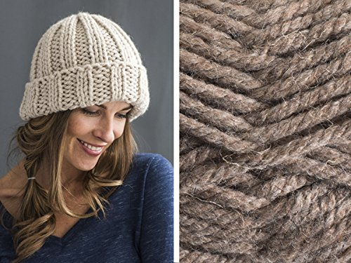 Craftsy Sprightly Quick and Easy Rib Hat Knitting Kit (Bark)