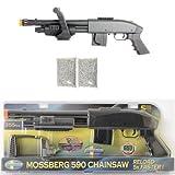 Mossberg M590 Chainsaw Spring Airsoft Shotgun 355 FPS + 2000 FREE BBS
