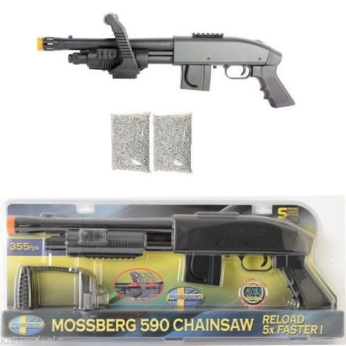 Mossberg M590 Chainsaw Spring Airsoft Shotgun 355 FPS + 2000 FREE BBS by Mossberg