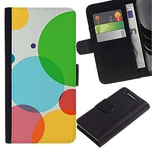 // PHONE CASE GIFT // Moda Estuche Funda de Cuero Billetera Tarjeta de crédito dinero bolsa Cubierta de proteccion Caso Sony Xperia Z1 Compact D5503 / Sexy Bubbles /