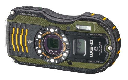 Pentax Optio WG-3 GPS green 16MP Waterproof Digital Camera with 3-Inch LCD Screen (Green) (Waterproof Digital Camera Pentax)
