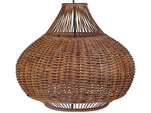 KOUBOO 1050064 Handwoven Wicker Pear Pendant lamp, 18