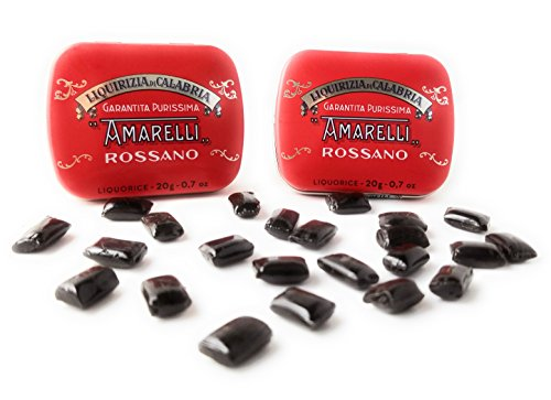 Amarelli Rossano - Pastilles of Pure Liquorice (Licorice) Hard Candy 2-20 gram Packages
