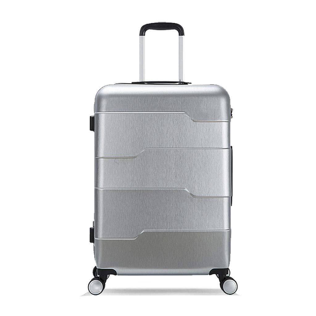スーツケース トラベルボックス起毛テクスチャトロリーケースABS + PC軽量で頑丈なブラックブルーシルバー3色20(43 * 25 * 57) (色 : シルバー しるば゜, サイズ さいず : 20(43*25*57)) B013QXD9R8 シルバー しるば゜ 20(43*25*57)