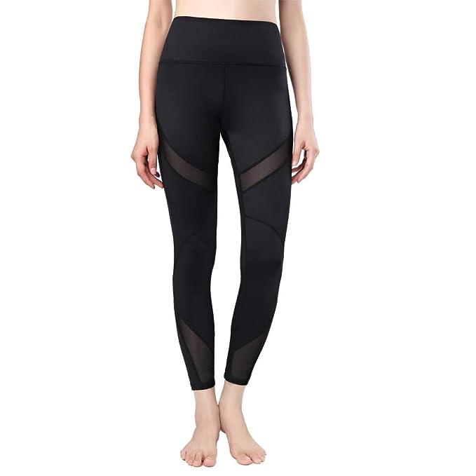 Amazon.com: newlashua - Pantalones de yoga para mujer, malla ...