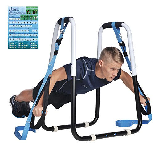 Ultimate Body Press Dip Bar and Bodyweight Resistance Trainer Package