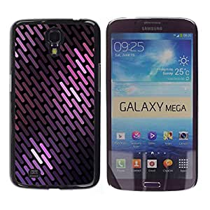 LASTONE PHONE CASE / Carcasa Funda Prima Delgada SLIM Casa Carcasa Funda Case Bandera Cover Armor Shell para Samsung Galaxy Mega 6.3 I9200 SGH-i527 / Lines Pattern Black Scales
