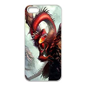 TOSOUL Diy Red Dragon Selling Hard Back Case for Iphone 5 5g 5s